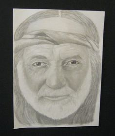 Willie Nelson pencil drawing.