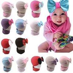 90103f97ff0 Newborn Baby Infant Girl Toddler Comfy Cute Bowknot Hospital Cap Beanie   fashion  clothing