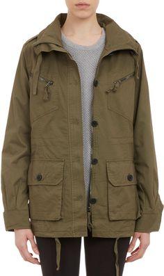 Barneys New York Army Jacket on shopstyle.com Sweater Coats 704d8d8db