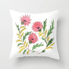 Accent Pillow  Watercolor Throw Pillow