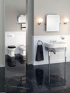 Devon & Devon Debuts 2012 Bath and Interior Design Collections Plain English Kitchen, Devon Devon, Black Toilet, Bidet, Master Bath Remodel, Beautiful Bathrooms, Bathroom Interior Design, Houzz, Bathtub
