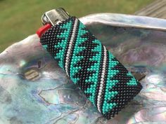 Your place to buy and sell all things handmade Native American Crafts, Native American Beadwork, Native American Fashion, Seed Bead Patterns, Beading Patterns, Beading Ideas, Beading Tutorials, Lighter Case, Bic Lighter