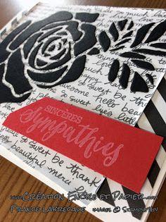Stampin'Up!  Carte Sympathies  Sympathies Card  Étampes Essence de Rose  Thinlits Roseraie  www.creationencreetpapier.com