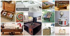 A DIY coffee table is a great DIY project to tie in your rustic home decor. These coffee table ideas include upcycling projects, mod podge crafts, & pallets