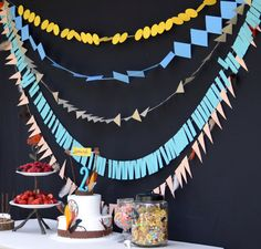 Geometic Paper Garland, Paper Backdrop, Indian Party, Cowboy Party, Archery Party, Bow  Arrow on Etsy, $70.00