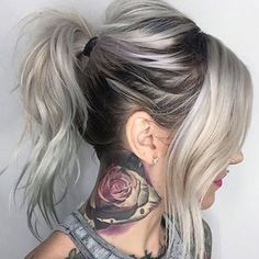 Ashe Blonde and Grey