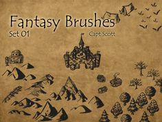 Fantasy Brush Pack 01 by CaptScott