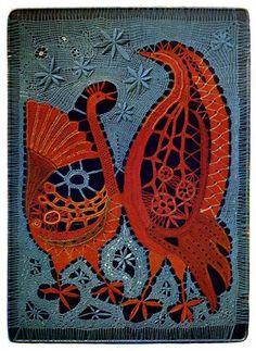 «Introspection» 1969 de Elena Holéczyova, Tchécoslovaquie. Dentelle aux fuseaux / Bobbin lace