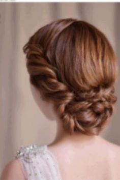 Braided twisted sleek updo