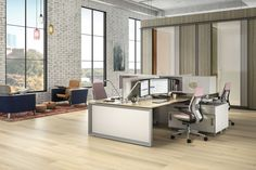 FrameOne Bench delivers on diverse design options that add versatility and value for companies to optimize real estate, fuel innovation and support the ways their people work best. Office Workstations, Office Furniture, Corner Desk, Innovation, Bench, Real Estate, Spaces, People, Inspiration