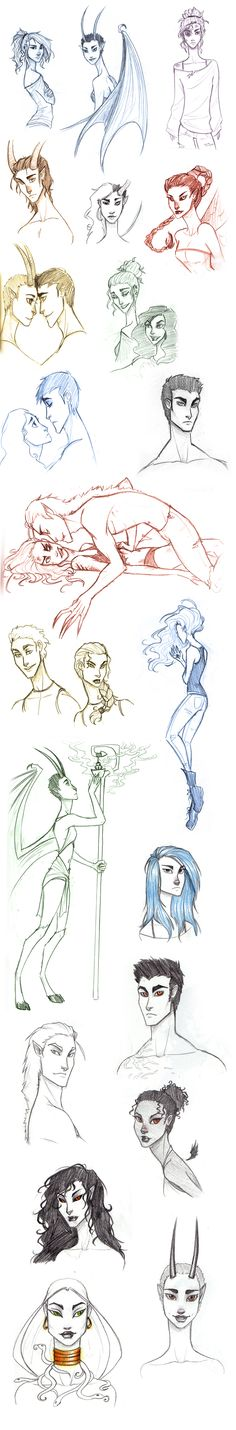 Daughter of Smoke and Bone Sketch Dump by TroubleTrain.deviantart.com on @deviantART
