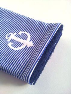 Armstulpen - Armstulpen AHOI blau weiß Stulpen Anker - ein Designerstück von…