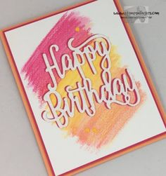 Stampin' Up! Watercolor Happy Birthday Thinlit Sneak Peek | Stamps – n - Lingers