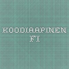 koodiaapinen.fi Good Parenting, Daily 5, Survival Guide, Coding, Teaching, School, Ipad, Robot, Classroom