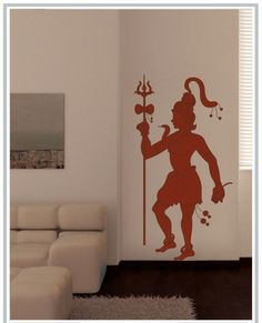 Be in the proximity of Lord Shiva by installing this Wall sticker depicting Lord Shiva in his mighty attire. Shop,gift it at www.gloob.in