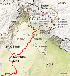 The weird, violent history of the Indo-Pakistani border. Political Geography, Ap Human Geography, Geography Map, Gernal Knowledge, General Knowledge Facts, History Of India, World History, Ias Study Material, India Pakistan Border