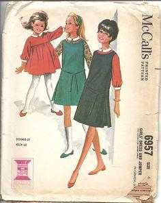Vintage 60s Dress Jumper Sewing Pattern by VintageClothingDream