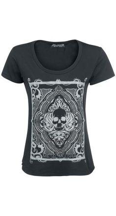 Queen of Diamonds Skull T-Shirt by Metal Mulisha ~ EMP
