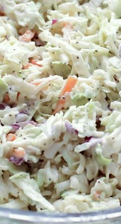 Classic Memphis-Style Coleslaw Have used this recipe and it's actually quite tasty (but I use fresh cabbage and shredded carrots)<br> ★★★★★ Cooking Recipes, Healthy Recipes, Easy Recipes, Cabbage Recipes, Chicken Recipes, Southern Recipes, Creamy Cole Slaw Recipe, Southern Living Coleslaw Recipe, Chopped Salads