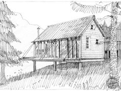 The Foresters Cabin was originally erected at the This cabin x has drop sides so it looks like a shed when closed up. The structure is a pegged green oak frame. It has a double bed alcove, small washroom/wc and kitchenette. Small Cottages, Cabins And Cottages, Small Houses, Forest Cabin, Forest House, Country Living Fair, Cabin Loft, Timber Cabin, Off Grid Cabin
