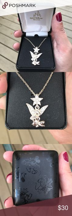 TinkerBell Necklace Technically NWT but box has some wear (pictured) but the Necklace was never taken out and worn Disney Jewelry Necklaces