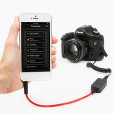 Triggertrap - Canon E3 - $30. Turn your phone, pad, or pod into an intelligent remote trigger for your camera.