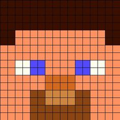 Steve Perler Bead Pattern | Minecraft | Use for studying area/perimeter/fractions in the classroom.