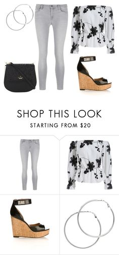 """""""Hanging With My Sisters on a Sunny Day"""" by english-thea ❤ liked on Polyvore featuring J Brand, Givenchy, Melissa Odabash and Kate Spade"""