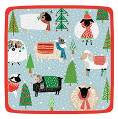 Amazon.com: Christmas Sheep and Lambs Paper Plates- too cute!  Good for boys and girls.