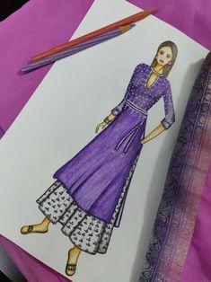Dress Illustration, Fashion Illustration Dresses, Creative Illustration, Fashion Design Books, Fashion Design Drawings, Fashion Sketches, Dress Design Drawing, Dress Design Sketches, Fashion Drawing Dresses