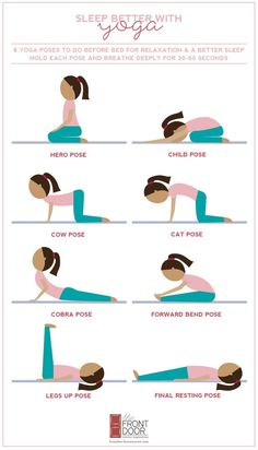 looking for tutorial on Workout: Yoga for Better Sleep. Here is a easy to do Workout: Yoga for Better Sleep. Before Sleep Yoga, Yoga Poses For Sleep, Yoga Poses For Back, Easy Yoga Poses, Yoga Poses For Beginners, Meditation For Beginners, Stretches Before Bed, Bed Yoga Poses, Bed Stretches