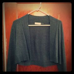 Charcoal Gray Calvin Klein Cardigan Charcoal gray rayon, silk and nylon cardigan. Super soft and comfortable. Crop style. Hits right around mid waistline. Mint. Calvin Klein Sweaters Cardigans
