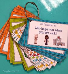 Busy Bee Speech: Common Core Task Cards for Speech Therapy K-2 {GIVEAWAY}