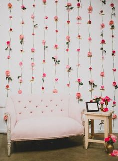 How to make your own ombre dried flower wall on juliettelaura from balloon walls to paper flowers there are so many ways to tailor a wedding backdrop to your individual wedding style solutioingenieria Image collections