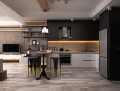 Siyah bir mutfak nasıl tasarlanır?  #mutfak #siyah # dekorasyon #tasarım #design   https://www.homify.com.tr/yeni_fikirler/483663/siyah-bir-mutfak-nasil-tasarlanir