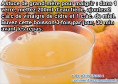 Enfin une Astuce de Grand-Mère Pour Mincir Qui Marche.  Lire la suite /ici :http://www.sport-nutrition2015.blogspot.com