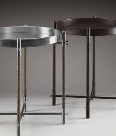 BOTTEGA VENETA - braided leather side tables