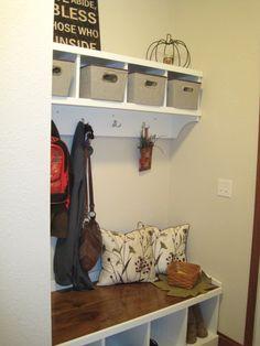 Mud room storage - love!