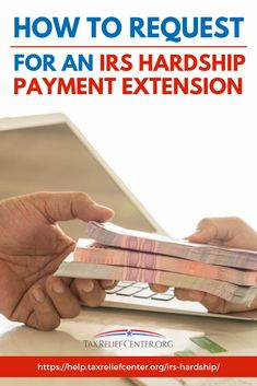 Taxpayers having difficulties paying taxes can apply for an IRS hardship extension. Here are the steps on how one can request for the extension. Tax Help, Ask For Help, Offer In Compromise, Types Of Taxes, Irs Forms, Credit Card Statement