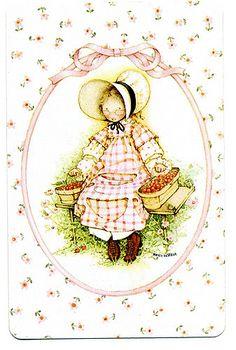 Sarah Kay, Holly Hobbie, Girl Gifs, Art Girl, Vintage Art, Joan Walsh, Illustration Art, Greeting Cards, Retro