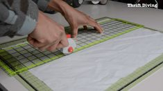 Cutting out fabric for the DIY privacy screen Window Privacy Screen, Bathroom Window Privacy, Zen Bathroom, Bathroom Windows, Bathroom Curtains, Privacy Screens, Bathrooms, Sliding Curtains, Door Curtains
