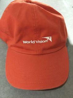 b9a36f15 Vintage World Vision Snapback Hat cap dad embroidered logo employee orange # fashion #clothing #
