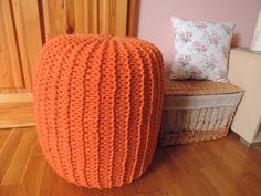 Úžitkový textil - Oranžový puf - 3135815