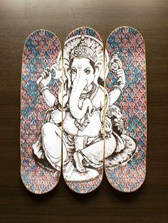 """Quadro de Skate """"Ganesha"""" - @lojaonboard"""