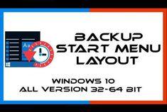 Backup & Ripristino Menu Start Windows 10 All Version Bit) Menu Layout, Windows 10, Science And Technology, Ms, Notebook, Link, Menu Design, The Notebook, Exercise Book