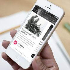 News App - Maria by Ismail MESBAH, via Behance