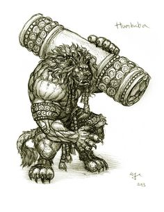 Day 10: Humbaba by Wen-M.deviantart.com on @DeviantArt