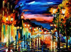 "The Road Of Memories  —  Oil Painting On Canvas By Leonid Afremov. Size: 40""x30"" #Impressionism"