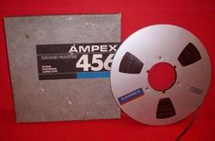 "Ampex 456 Recording Tape Magnetic 1 4"" 10 5 Metal Reel to 2500 ft Grand Master 
