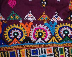 Vintage Skirt Gyspy Hand Embroidered Women's Antique Skirt